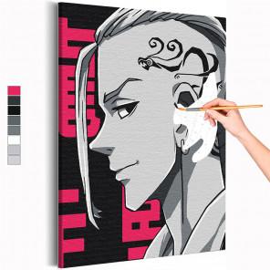 Дракен / Кен Рюгуджи Токийские мстители Аниме Раскраска картина по номерам на холсте с неоновой краской AAAA-ANI006
