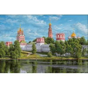 Новодевичий монастырь Алмазная вышивка мозаика АЖ-1911