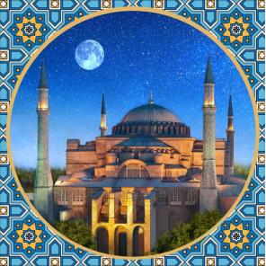 Мечеть Айя София Алмазная вышивка мозаика АЖ-1926