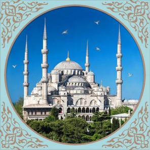 Голубая Мечеть в Стамбуле Алмазная вышивка мозаика АЖ-1928
