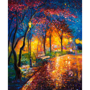 Вечерний теплый парк Раскраска картина по номерам на холсте MG2411