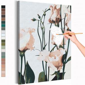 Нежные цветы Раскраска картина по номерам на холсте AAAA-RS346