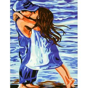 Поцелуй Раскраска (картина) по номерам акриловыми красками на холсте Menglei