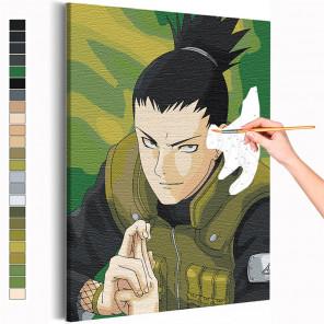 Шикомару Нара / Наруто Аниме Раскраска картина по номерам на холсте AAAA-ANI081