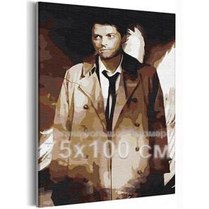Кастиэль Сверхъестественное 75х100 см Раскраска картина по номерам на холсте AAAA-RS392-75x100