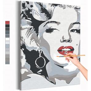 Мэрилин Монро / Знаменитости / Девушки Раскраска картина по номерам на холсте AAAA-RS347