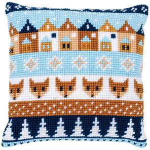 Зимние мотивы Набор для вышивания подушки Vervaco PN-0170316