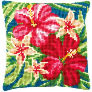 Ботанические цветы Набор для вышивания подушки Vervaco PN-0179963