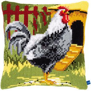 Черный петух Набор для вышивания подушки Vervaco PN-0150663