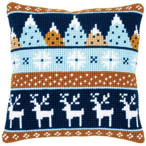 Зимние мотивы Набор для вышивания подушки Vervaco PN-0170317