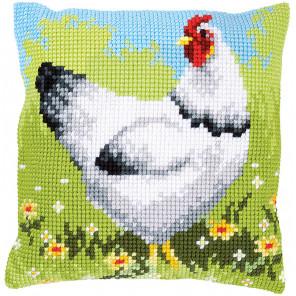 Белая курица Набор для вышивания подушки Vervaco PN-0157393