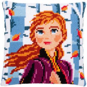 Холодное сердце. Анна Набор для вышивания подушки Vervaco PN-0182762