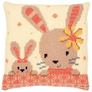Сладкие кролики Набор для вышивания подушки Vervaco PN-0187190