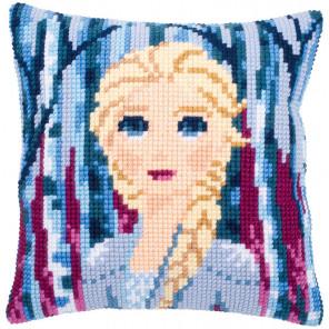 Холодное сердце. Эльза Набор для вышивания подушки Vervaco PN-0182622