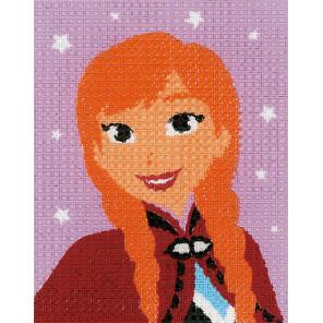 FROZEN Анна Набор для вышивания подушки Vervaco PN-0167690