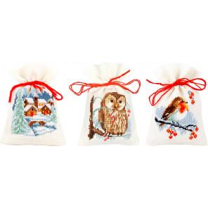 Зима Набор для вышивания мешочков (саше) Vervaco PN-0156823