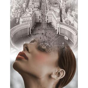 Мыслями в Риме Алмазная вышивка мозаика на подрамнике LMC027