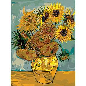 Подсолнухи Ван Гог Раскраска картина по номерам на подрамнике