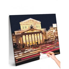 Большой театр, Театральная площадь / Архитектура Москва Раскраска картина по номерам на холсте с неоновой краской AAAA-RS323