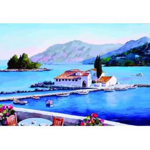 Греция Раскраска по номерам акриловыми красками на холсте Color Kit