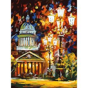 Мерцание ночи Санкт-Петербурга Раскраска ( картина ) по номерам на холсте Белоснежка