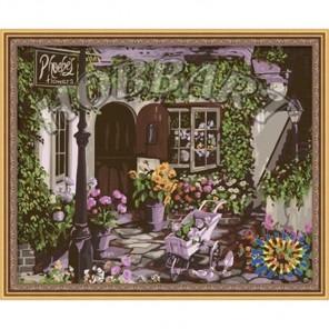 В гостях у цветовода Раскраска ( картина ) по номерам акриловыми красками на холсте Hobbart