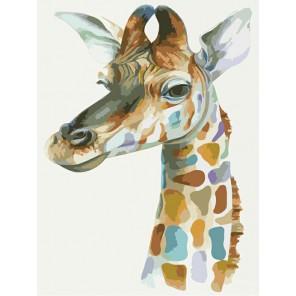 Жираф Раскраска по номерам акриловыми красками на холсте