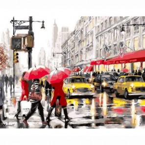 Нью-Йорк Раскраска по номерам акриловыми красками на холсте Живопись по номерам (Paintboy)
