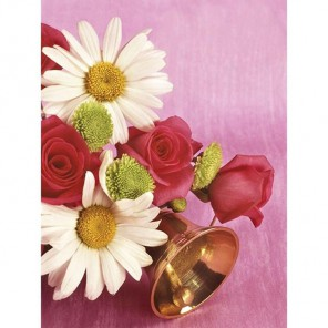 Ромашки и розы Алмазная вышивка (мозаика) Цветной