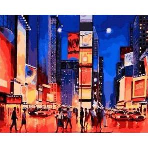 Таймс сквер Раскраска по номерам акриловыми красками на холсте Живопись по номерам (Paintboy)