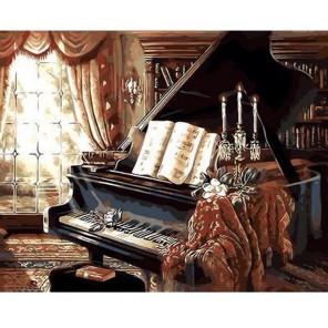 Вечер у рояля Раскраска картина по номерам акриловыми красками на холсте Живопись по номерам (Paintboy) | Картины по номерам