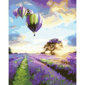 Полет над лавандой Раскраска по номерам акриловыми красками на холсте Menglei