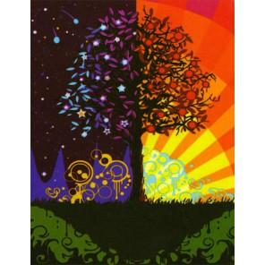Дерево счастья Раскраска по номерам акриловыми красками на холсте Menglei