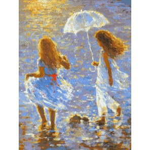Прогулка Раскраска картина по номерам акриловыми красками на холсте Белоснежка