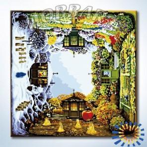 Времена года Раскраска картина по номерам акриловыми красками на холсте Hobbart