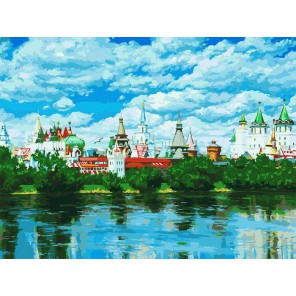 Русское подворье Раскраска картина по номерам акриловыми красками на холсте Белоснежка