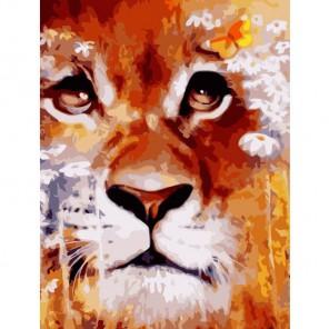 Сентиментальный лев Раскраска картина по номерам акриловыми красками Color Kit
