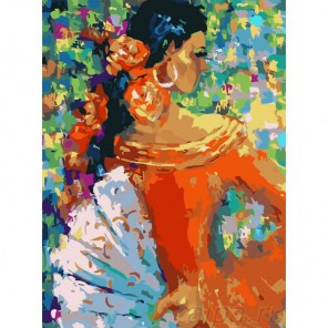 Фламенко Раскраска картина по номерам акриловыми красками Color Kit