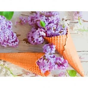 Сиреневый десерт Раскраска картина по номерам акриловыми красками Color Kit