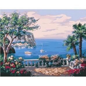 Вид с террасы Раскраска картина по номерам акриловыми красками на холсте Molly