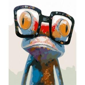 Лягушка попарт Раскраска картина по номерам акриловыми красками на холсте Menglei