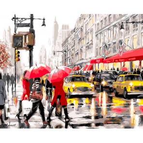 Осень в Нью-Йорке Раскраска картина по номерам акриловыми красками на холсте Iteso