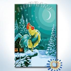 Голосистый петушок Раскраска картина по номерам акриловыми красками на холсте Hobbart