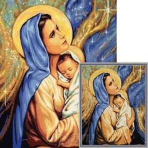 Мадонна с младенцем Алмазная мозаика вышивка Гранни   Алмазная мозаика купить