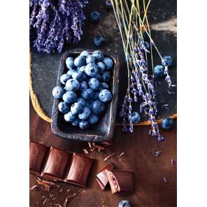 Шоколад и голубика Алмазная мозаика вышивка Гранни