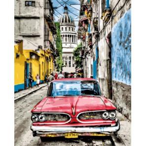 Ретро автомобиль Раскраска картина по номерам акриловыми красками на холсте   Картина по номерам купить