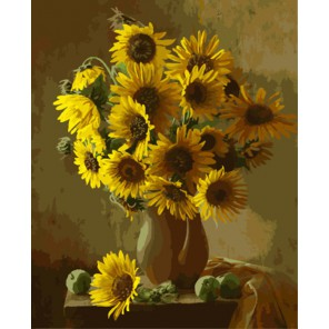 Солнечный букет Раскраска картина по номерам акриловыми красками на холсте | Картина по цифрам купить