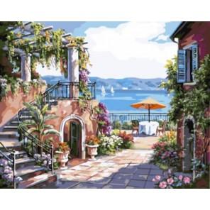 Тосканская терраса Раскраска картина по номерам акриловыми красками на холсте | Картина по цифрам купить