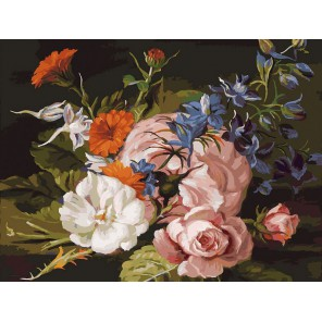 132-AS Изящный букет Раскраска картина по номерам акриловыми красками на холсте Белоснежка