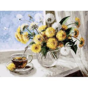 126-AS Одуванчики Раскраска картина по номерам акриловыми красками на холсте Белоснежка
